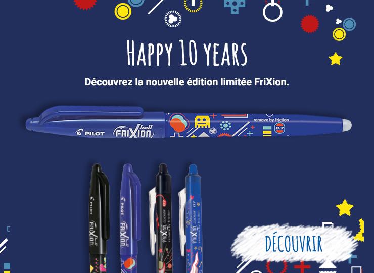 Découvrir ici la série limitée FriXion 10 ans.