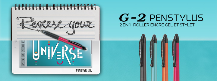 G-2 Penstylus : 2 en 1 : stylet et roller Pilot