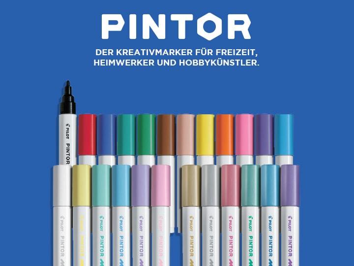 Pilot Pintor, der Kreativmarker für Freizeit, Heimwerker und Hobbykünstler.