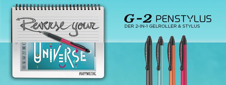 Pilot G-2 Penstylus : Der 2-in-1 Gelroller & stylus