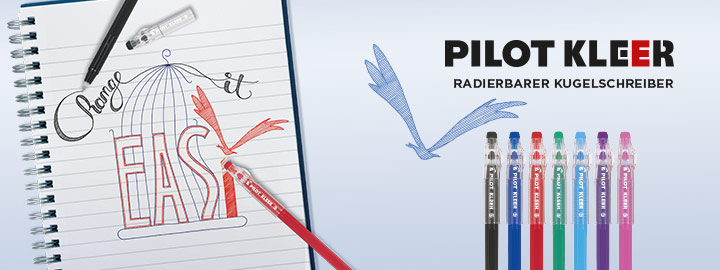 Radierbarer Kugelschreiber Pilot Kleer