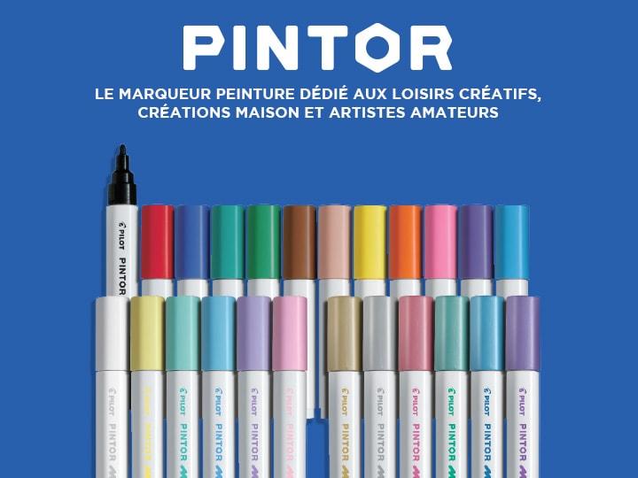 Pilot Pintor, le marqueur peinture dédié aux loisirs créatifs, creations maison et artistes amateurs