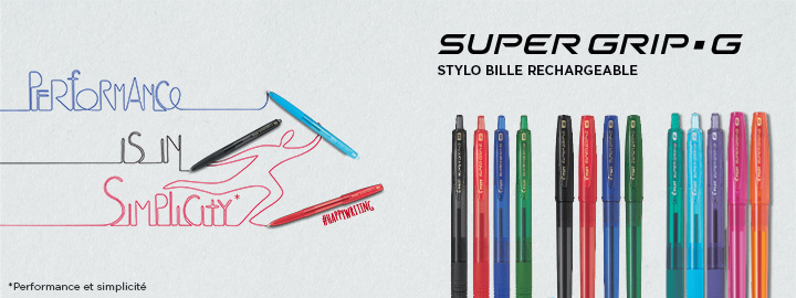 Super Grip G Stylos Bille Pilot