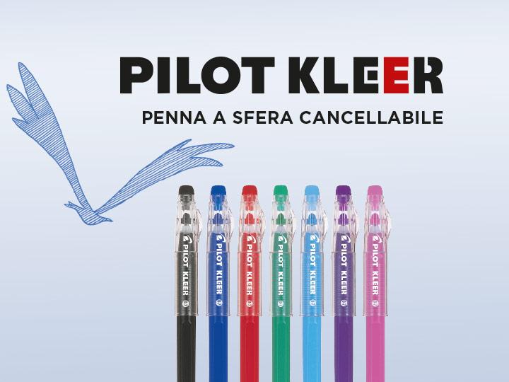 Pilot Kleer : penna a sfera cancellabile