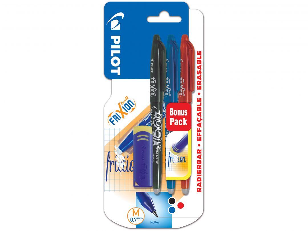 Blis 3 FriXion Ball 0.7 B/L/R + FriXion Eraser