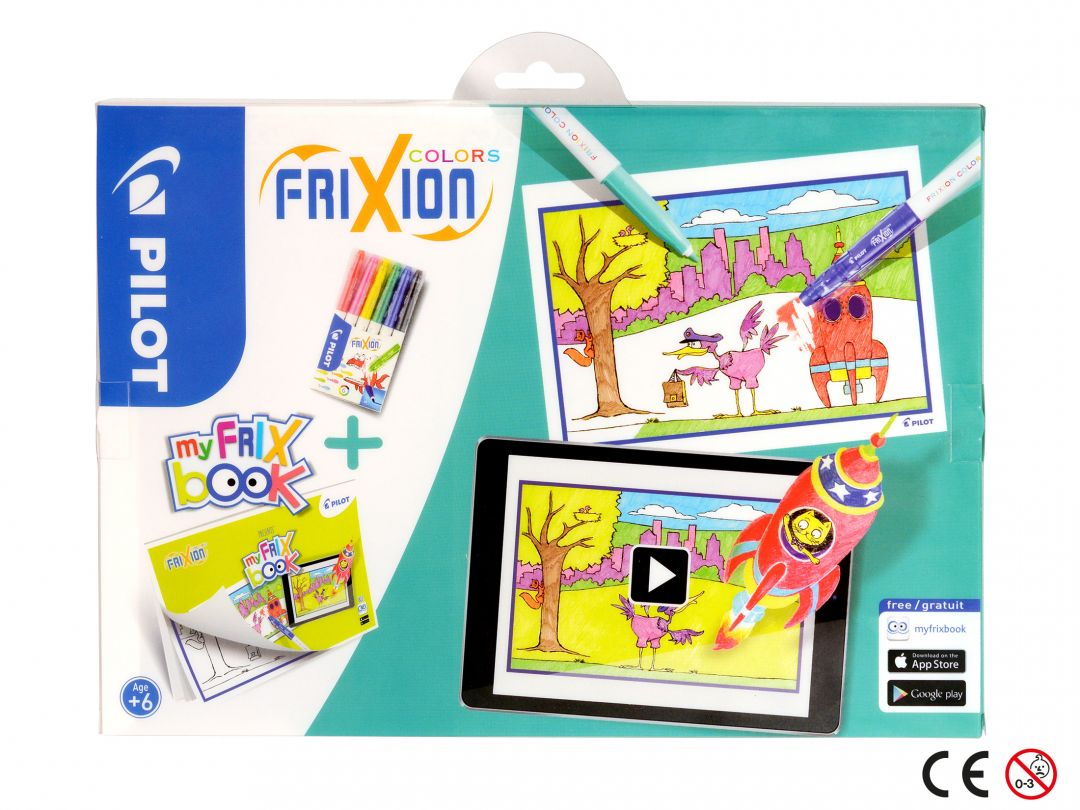 FriXion Colors - Set My FriX Book x 6 - Farbl. sortiert - Medium Spitze