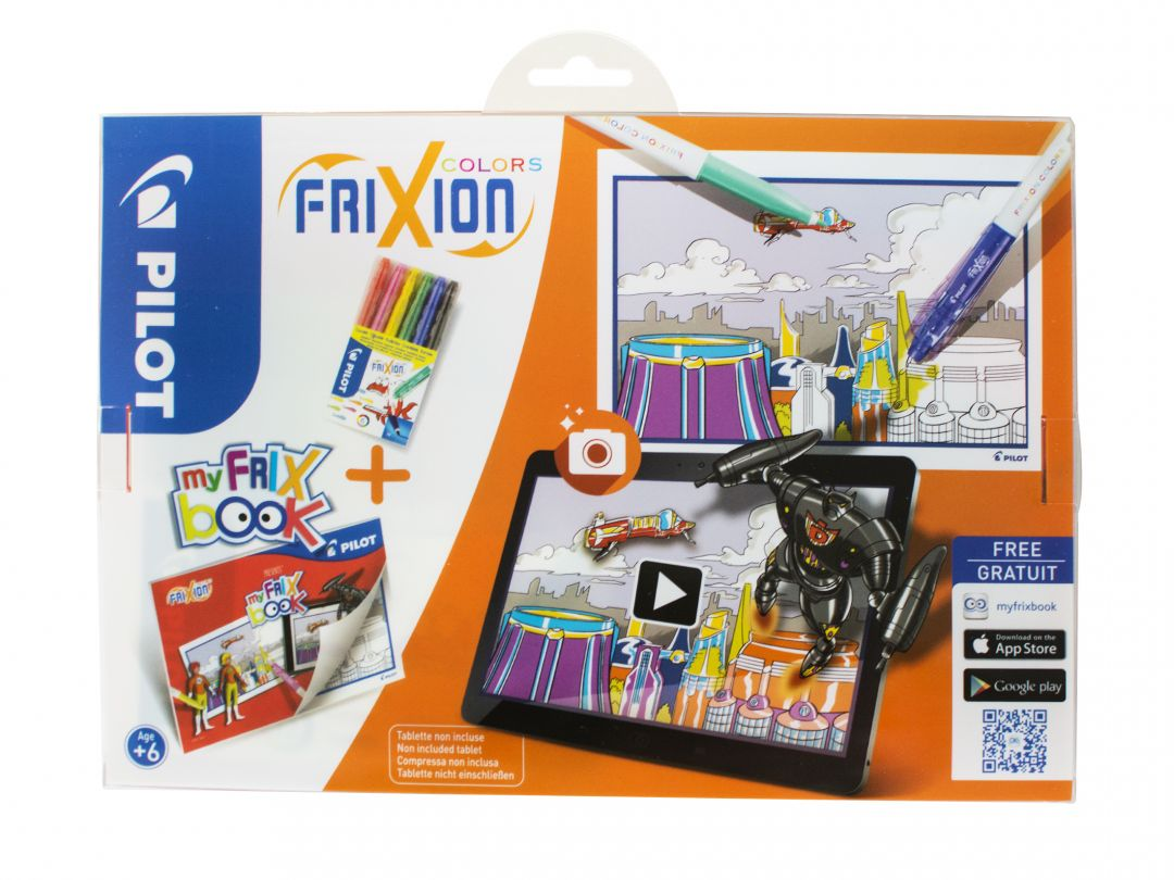 FriXion Colors - Set My FriX Book x 6 V2 - Farbl. sortiert - Medium Spitze