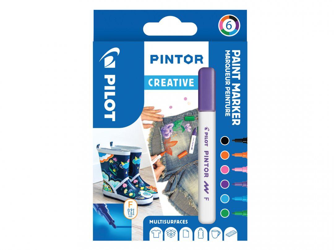 Pilot Pintor - Marker - Etui à 6 - MULTICOLOR - Feine Spitze