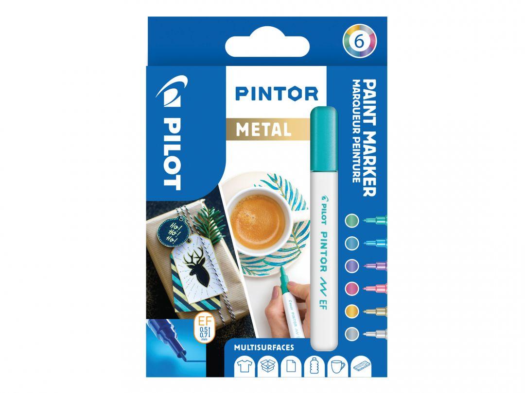 Pilot Pintor - Etui à 6 - [Metallic] - Extra feine Spitze