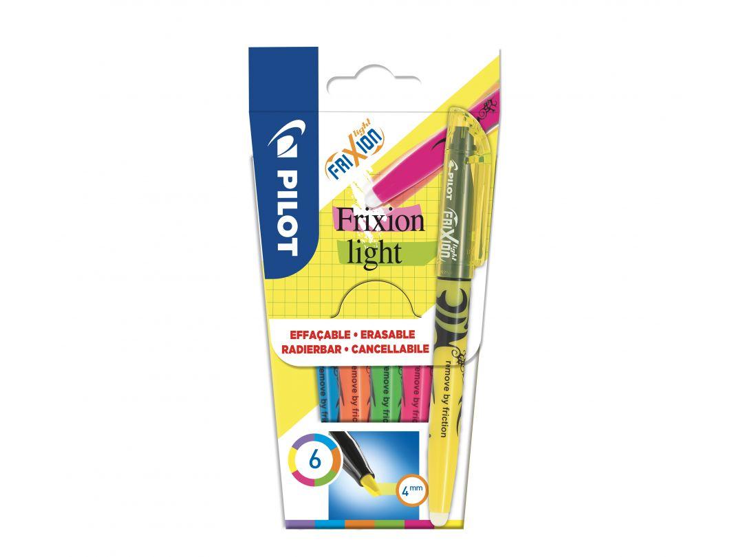 FriXion Light - Etui à 6 - Violett, Blau, Orange, Grün, Pink, Gelb - Medium Spitze