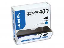 Permanent Marker 400 - Marqueur - Pack XXL - Bleu - Pointe biseautée large
