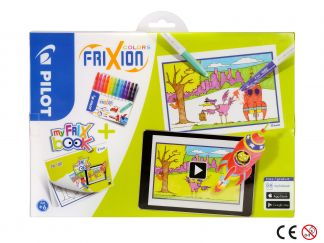 FriXion Colors - Set My FriX Book x 12 - Couleurs assorties - Pointe Moyenne