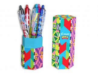 FriXion Ball Clicker 0.7 - Trousse Mika Edition Limitée - Couleurs assorties - Pointe Moyenne