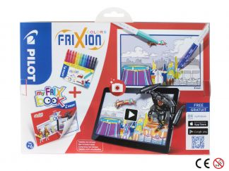 FriXion Colors - Set My FriX Book x 12 V2 - Farbl. sortiert - Medium Spitze
