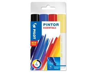 Pilot Pintor - Etui à 4 - MULTICOLOR - Medium Spitze