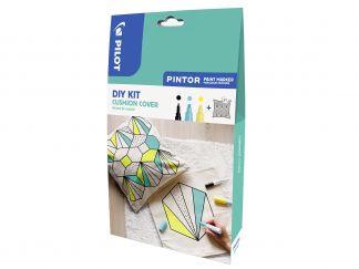 Pilot Pintor - Kit Créatif - Housse de coussin - Couleurs assorties - Pointes Fine / Large