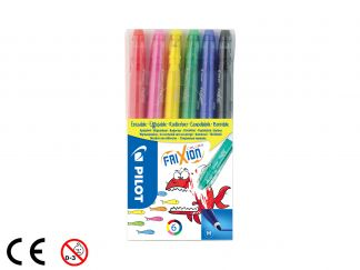 FriXion Colors - Set de 6 - Couleurs assorties - Pointe Moyenne