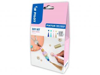 Pilot Pintor - DIY Schlüsselanhänger Set - Blau, Pastellgrün, Pastellpink, Gold - Extra feine Spitze